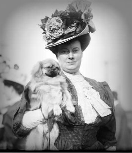 Victorian-woman-holding-dog.