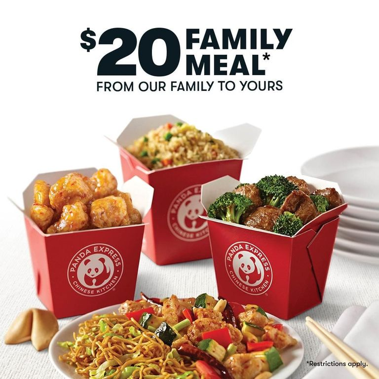 photo from https://www.delish.com/food-news/a31899613/panda-express-20-dollar-meal-deal/