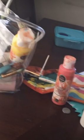 This is a photo showing some of the supplies I started using when I started painting!