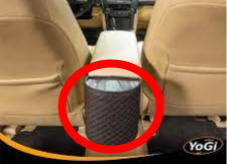 Put trash cans in cars